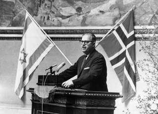 ABBA EBAN NORWAY FLAG