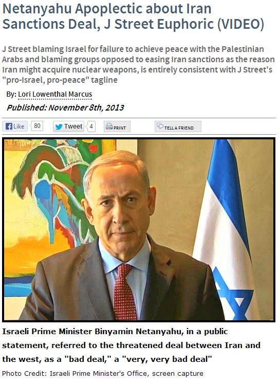 J-STREET JUBLIANT OVER OBAMA BACKSTAB OF ISRAEL ON IRAN 9.11.2013