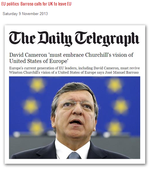 barrosa says uk should either leave the eu or get in line 9.11.2013