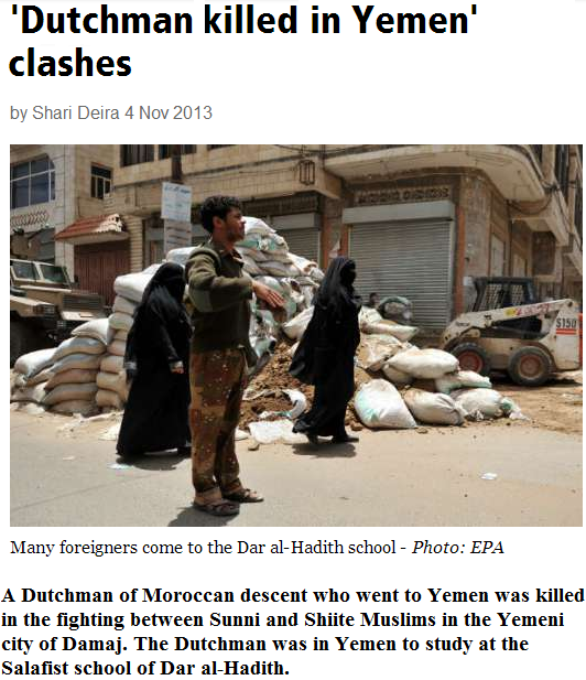 dutch jihadi killed in yemen 5.11.2013