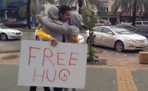 free-hug-saudi arrested