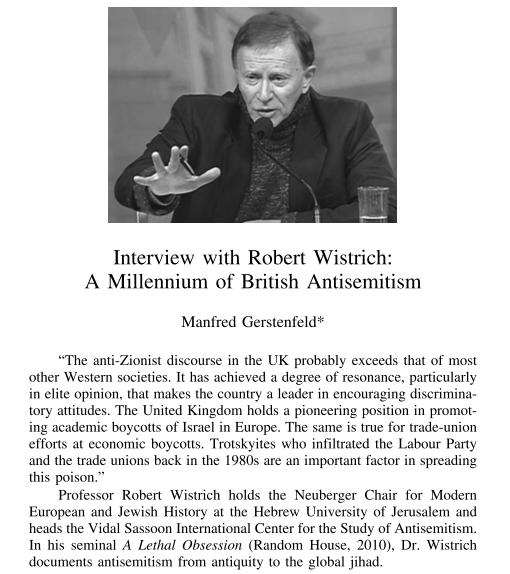 gerstenfeld wistrich interview 5.11.2013