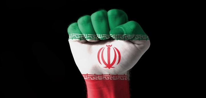 iran closed fist