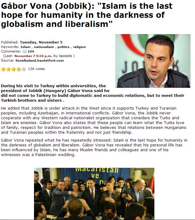 jobbik and islam 8.11.2013