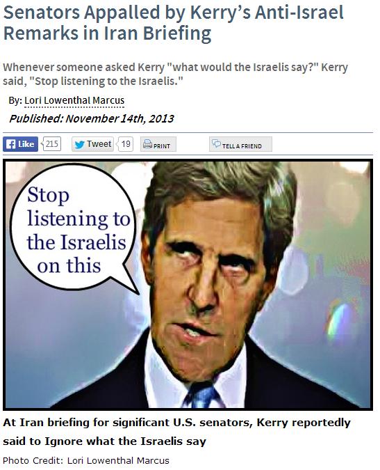 kerry disses israeli concerns 14.11.2013