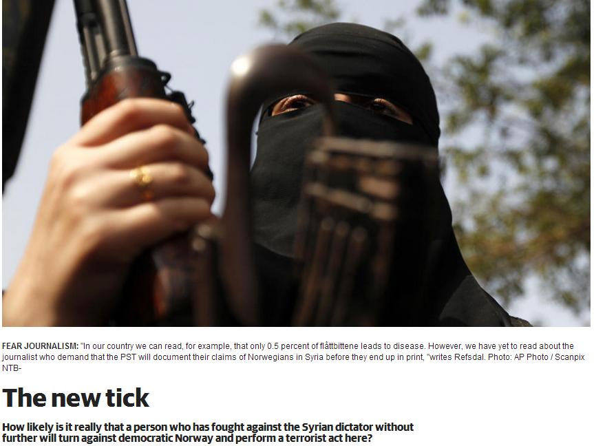 norwegian film maker says media fear mongering, jihadis pose no risk in norway 14.11.2013