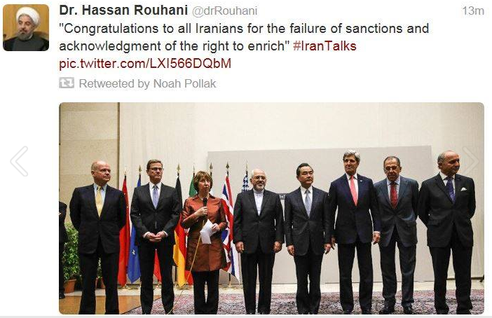 rouhani congrats on fooling the west