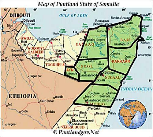 somali Puntland-map