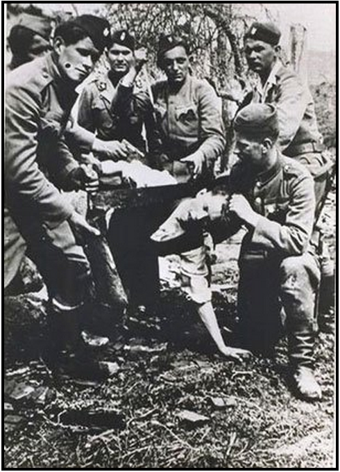 CROATS MURDERING SERBS AND JEWS