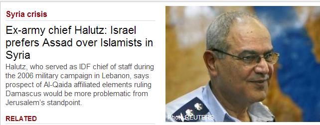 IDF ex-army chief prefers assad over jihadis 11.12.2013