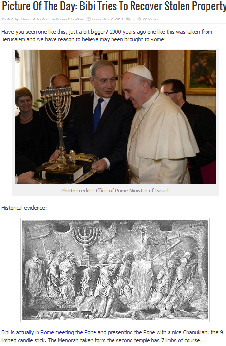 bibi with the pope