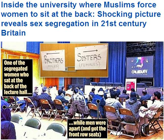 uk university gender segregation 15.12.2013