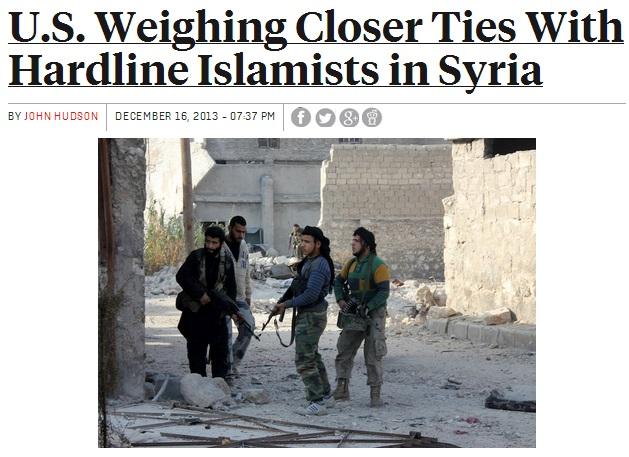 us seeks to align itself with al-qaida backed syrian rebels 16.12.2013