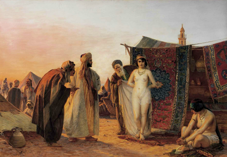 scene from a muslim slave market of white women otto pilny