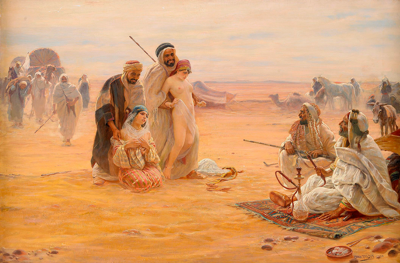 scene from a muslim slave market of white women2 otto pilny