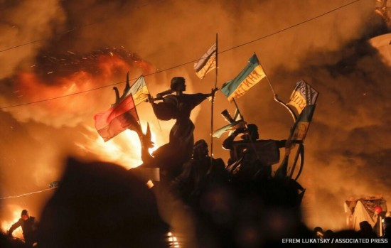 Ukrainian protests degenerate from hooliganism to...