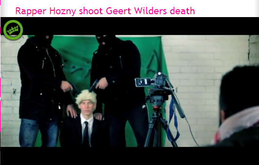 muslim rapper makes video of shooting geert wilders 19.3.2014