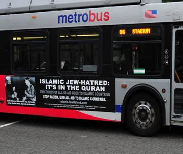 ISLAMIC JEW HATRED BUS SIGN