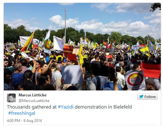 YAZIDI DEMO GERMANY 9.8.2014