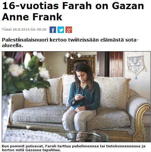 gaza girl anne frank