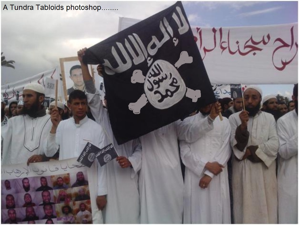 al qaida Islamic state pirate flag