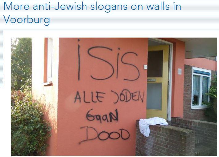 dutch islamic anti-semitism all jews die 2.10.2014