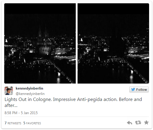 cologne church lights out