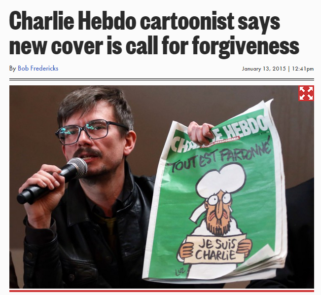 hedbo cartoonist says all's forgiven