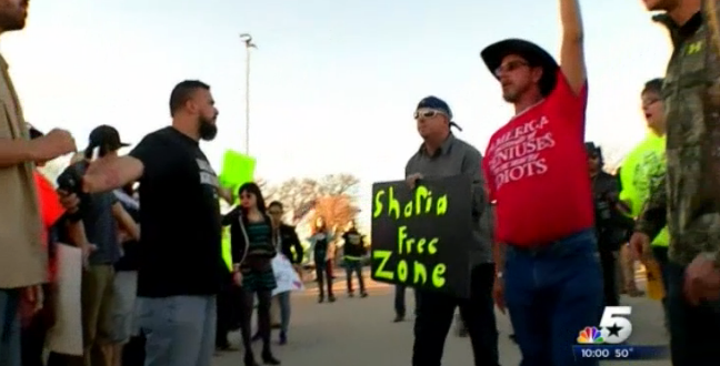 protest on islam in texas 21.1.2015