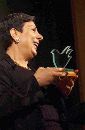 ashrawi war is peace