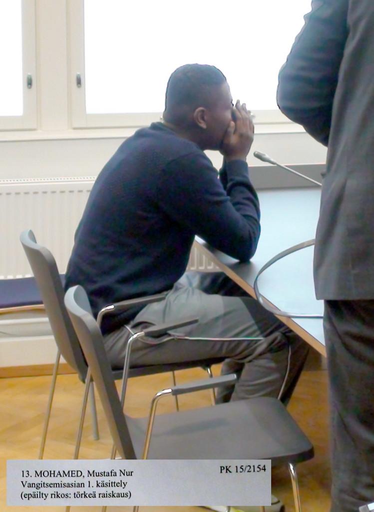 Somali rapist finland in court pics 15.3.2015b
