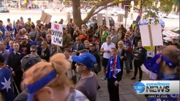 no sharia rally in australia 5.4.2015