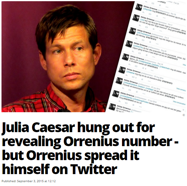 JULIA HUNG OUT FOR REVEALING ORRENIUS NUMBER
