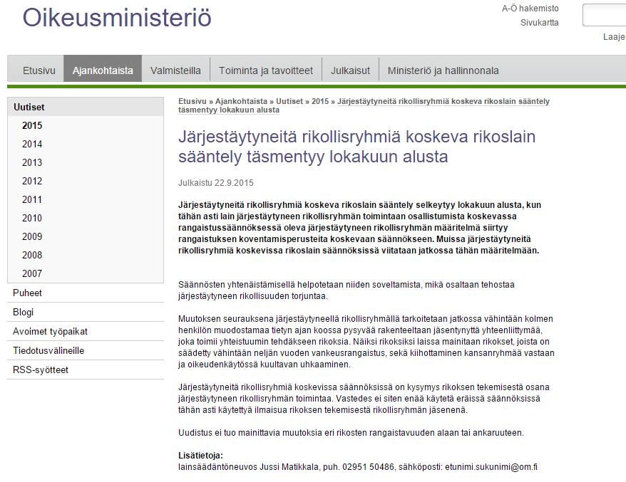 finnish injustice ministry