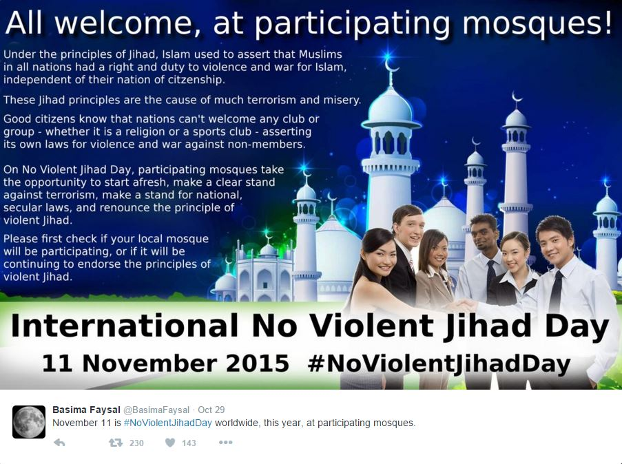 NON-VIOLENT JIHAD DAY 11.11.2015