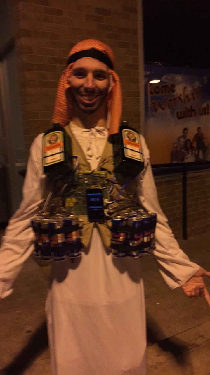 CRYBABY COLLEGE STUDENTS WHINE OVER ISLAMO BOMBER-DRINK HALLOWEEN ...