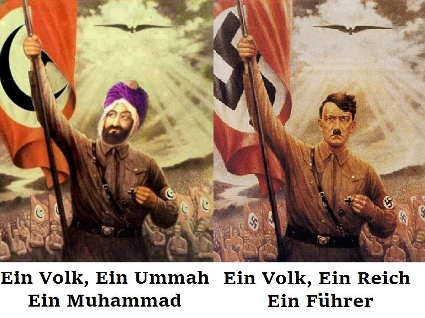 Afbeeldingsresultaat voor Ein Volk, Ein Reich, Ein Islam