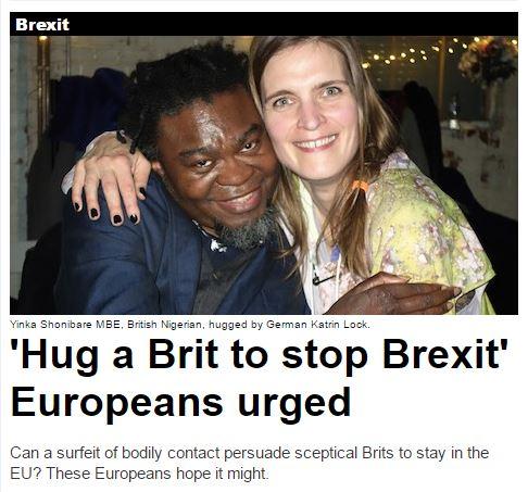 HUG A BRIT TO SOPT BREXIT......