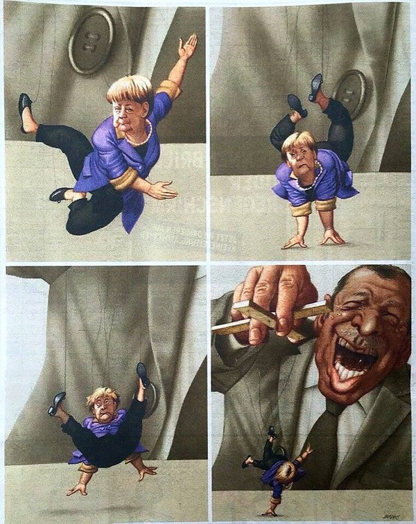 Schmerkel on a string