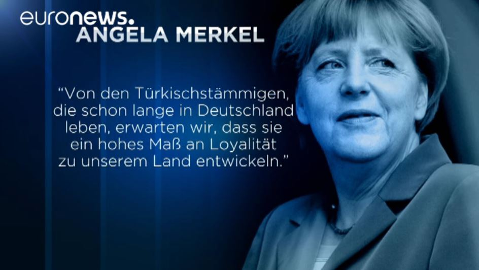 merkel schmerkel wants turks to express loyalty to german state.....