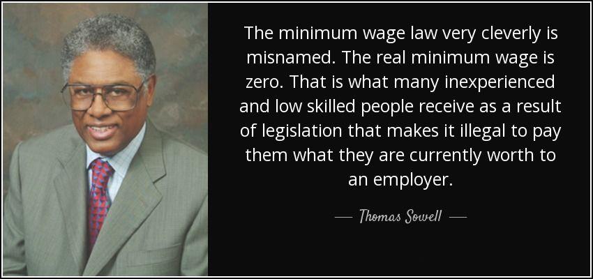 sowell minimum wage